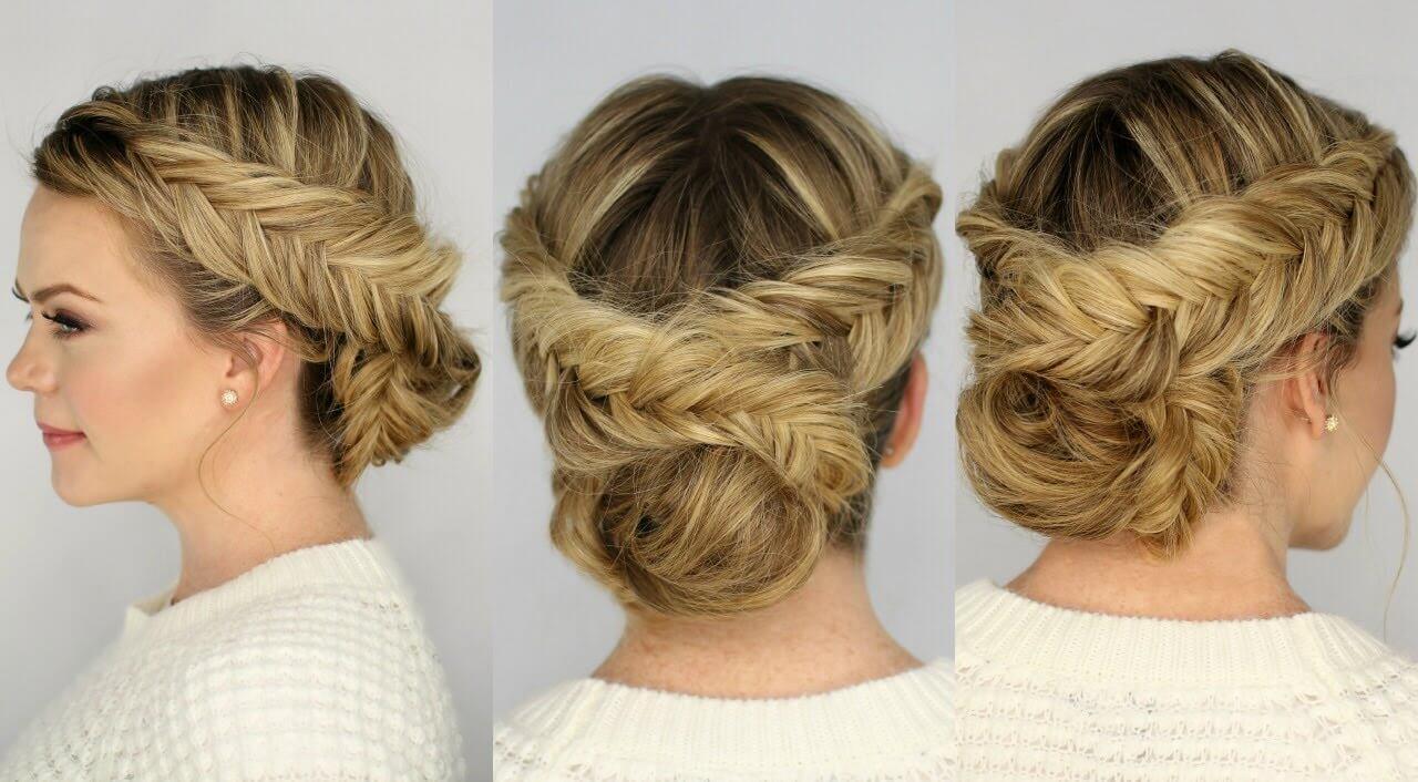 Прически с косичкой на средние волосы