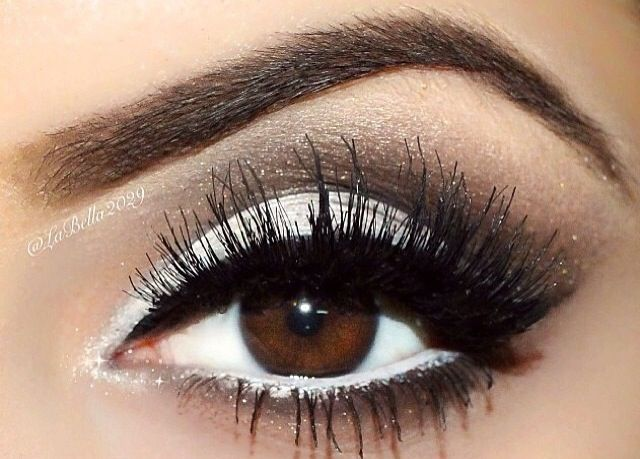 Black and white eye makeup